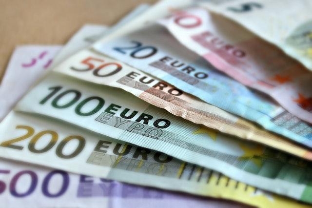 Euro geld briefjes